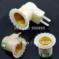 2014 Direct Selling Tomada Ukraine Usb Socket 3x E27 Switch Socket Base Holder Plug Us Au Adapter Converter for Led Lamp Bulb
