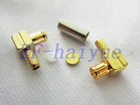 RF MCX connector MCX male  Plug Right Angle Crimp connector cable RG316  wholesale