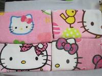 3PC Lovely Hello Kitty Girl Women Towel Washcloths Gift