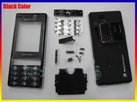 Black New Original for Sony Ericsson K810 K810i complete full housing cover case + keypad Free Shipping