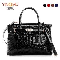 Fashion women's 2013 fashion genuine cowhide leather crocodile pattern one shoulder handbag cross-body women's handbag