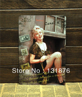 20*30cm Sexy Girl  Hot Chick Bar Decor Wall Decor Bar Tin Sign Stamps Collection Metal Iron Poster