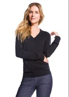 2013  fashion  Brand New  POLO Women's  Solid V-NECK  CONTTON  SWEATERS Jumper  Women Long Sleeve jerseys 7 Color FREE SHIP