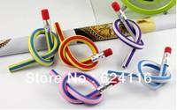 P35 30pcs/lot Free Shipping 360 degree Soft 2B Curve Bend Pen Magic Trick Magic Show Magic Toys pens for boys girls