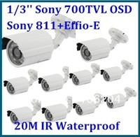 700TVL Cameras SONY 811+Effio-E DSP 20m IR waterproof board lens 3.6mm bullet cctv camera