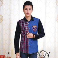 Hot Selling Men's Casual Shirt, Nrew Fashions, 2 Colors, Free shipping, Full sleeve Plaid shirt, Wholesale and Retail