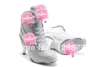 Free shipping 2013 new arrive fashion pumps woman high heels sneakers for women sneakers women sports shoes pure White