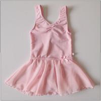 free shipping Child sleeveless chiffon skirt child dance clothes dance clothes female child one piece swimwear ballet skirt