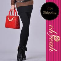 Free shipping  cotton pants women skinny leggings black/gray  women skirt legging T22671