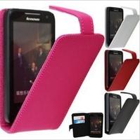 J&H Genuine Flip Leather Case for Lenovo P700i Phone   Drop ship freeshipping