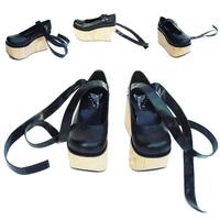 Cos shoes wood grain nana punk boots female HARAJUKU platform shoes
