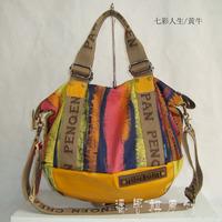 Hot-selling women's handbag one shoulder cross-body street canvas bag double big bag