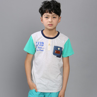 Children's clothing child summer male 2013 big boy t-shirt male child T-shirt short-sleeve casual child t-shirt baby