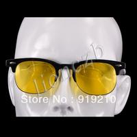 Retro Polarized UV400 Sunglasses Night Vision Driving Glasses Yellow lens  008801
