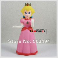 10pcs Super Mario Princess Peach 5inch without star 12cm pvc toy figures cute Doll