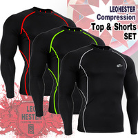 Leo pro straitest quick-drying t-shirt fitness clothing compression clothing basic shirt cpd-bl