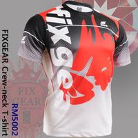 Free Shipping Sports T-Shirts Genuine Fashion Althetic shirts FIXGEAR Tennis Golf T-Shirts Printing Sports Tee Unisex RM-5002