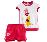 2013 new Wholesale 100%cotton Girls sports suit,Size:80-90-100-110-120,5 set/lot,Free Shipping