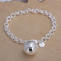H043 Free Shipping Wholesale 925 silver bracelet, 925 silver fashion jewelry Ball Pendant Bracelet