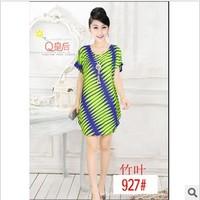 Summer women's one-piece dress spring summer plus size floral print skirt lace chiffon