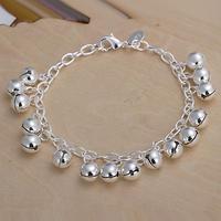 H056 Wholesale! Free Shipping Wholesale 925 silver bracelet, 925 silver fashion jewelry Bell Bracelet