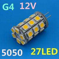 New G4 LED 27 LEDs SMD 5050 DC 12V Warm White/Cool White High Lumen LED Bulbs Lamps Best Quality Free Shipping 10pcs/log