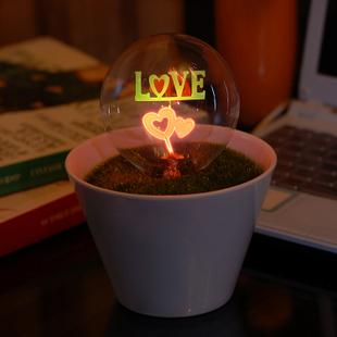 Free shipping Romantic flower bonsai small night light rose mantianxing 5(China (Mainland))