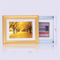 Modern meter box distribution box decorative painting push-pull meter box fashion box art gold