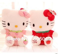 Free shipping manufacturers selling Plush stuffed girl baby toys hello kitty cute fruit Kitty cat toy doll baby birthday gift