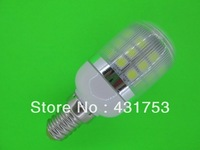 9W  E14  3000-6500K 360-Lumen 30 x 5050 SMD LED Warm White, White Light Bulb (200V-240V/AC)