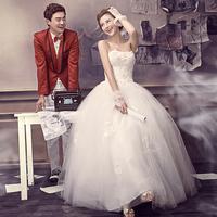 Wedding photography formal dress 2013 strap tube top style sweet princess dress hs6251