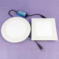 Circle square lamp led panel light  ultra-thin aluminum led downlight aisle lights led mini panel lihgt