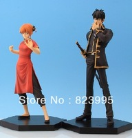 NEW HOT SELL  Silver soul   One piece  Kagura & Hijikata Toushirou   PVC  16CM Figure  Free shipping