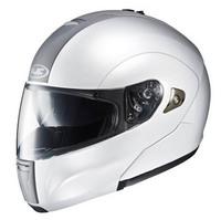Hjc motorcycle sports helmet double lenses is-max undrape face helmet white