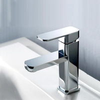 Copper wash basin faucet single hole basin hot and cold faucet basin art basin bathroom