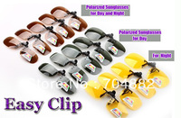 Hot and Fashion Polarized Sunglasses Clip Day Night for Driving and Outdoor Free Shipping
