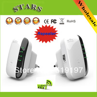 Discount Drop shipping Wireless N Wifi Repeater 802.11N/B/G Network Router Range 300Mbps signal Antennas booster extend wifi
