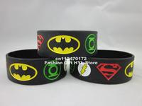 New Justice League, Superman, Batman, Green Lantern, The flash wristband, Silicon bracelet, MOQ: 1PC