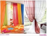Hot sale ~ wholesale 4pcs/lot  voile europe gauze curtain 20 kinds of color, accept customized size choose different colors