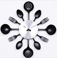 Top Selling 1pcs Creative Clock Design For Kitchen & Kitchen Clock & Unique Modern Clocks Free Shipping