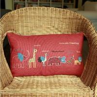 Animals Meeting  Linen Cotton Sofa Cushion Monopoly 1pcs 30 * 50cm Wholesale Free Shipping