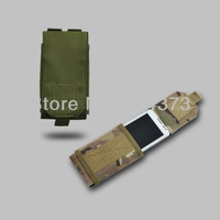 "For 5"" Screen Mobile Cell Smart Phone Galaxy MOLLE Tactical Military Pouch/Case Bag Cover 600D Nylon Olive Drab Green"