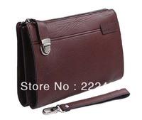 New Genuine leather men wallet fashion designer man purse soft cowskin Zipper & Hasp Brown Coin Wallet Free shipping