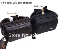 New style black and brown genuine leather bag,leisure bag,portable waist bag
