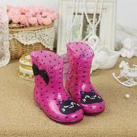 High quality child rain boots rainboots child shoes cat glioma