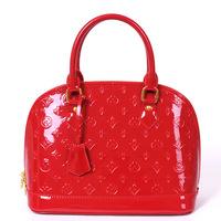 Shell bag red bag japanned leather handbag mini bag married bridal bag shaping bag 2013 women's summer handbag