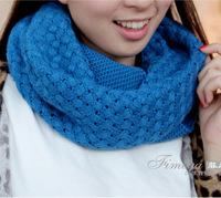 Sleeve head scarf Korean female winter warm winter wool scarf Women neckerchief wholesale unisex cross twist