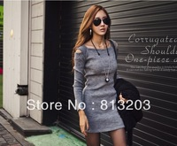 Autumn And Winter Dress Stylish Dress Slim Hip Sexy Long-Sleeved Dress Knee-Length Hot Sheath Dress Pencil Skirt