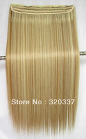 HOT Heat Resistant Hairpieces Clips in Synthetic Hair Extensions Highlighted Hair Clip in Hair Extensions #27/613 Brown & Blonde
