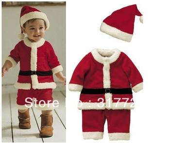 Free shipping Boys and girls Christmas dress modeling Romper Boys Girls Hooded Dress